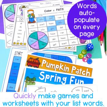 Editable Sight Word Packs