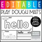 Editable Sight Word Playdough Mat Worksheets & Activities