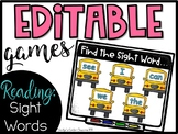 Editable Sight Word PowerPoint Target Game - Sight Word Review Game