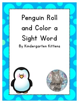 Editable Sight Word Roll and Color Penguins Sheet