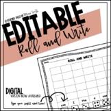Editable Sight Word Template