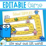 Editable Sight Word \ Spelling Word Game