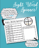 Editable Sight Word Spinner!