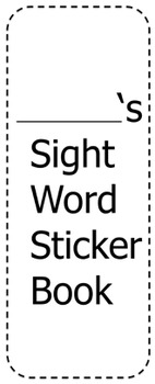 Editable Sight Word Sticker Book