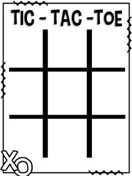 Editable Sight Word Tic-Tac-Toe Game