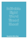 Editable Sight Word Time Sheet