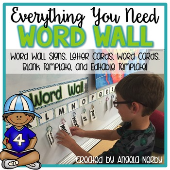 Editable Sight Word Wall for Primary Writers