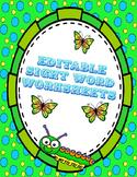 Editable Sight Word Worksheet Update