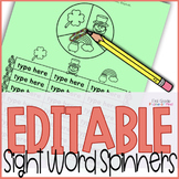 Sight Word Games Editable { Spring }