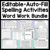 Editable Spelling Activities for any List of Words {10 Products with Auto-Fill!}