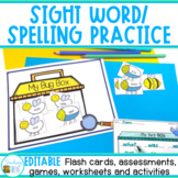 Sight Word Worksheets and Games to use with any list - EDITABLE