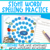 Sight Word Worksheets and Games to use with any list (EDITABLE)