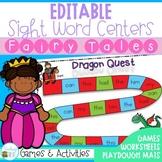 Editable Sight Word Centers Fairy Tale Themed