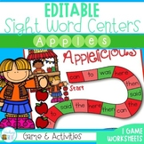 Editable Sight Word Activities (Apple Themed)