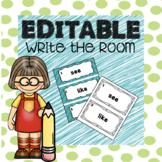 Editable Sight Word Write the Room