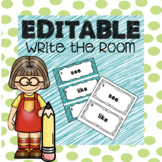 Editable Sight Word Write the Room