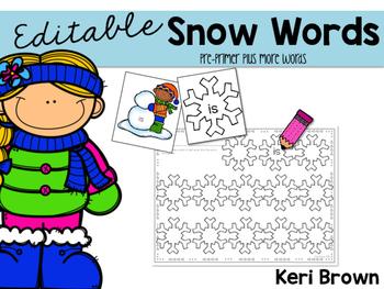 Editable Sight Words Activities