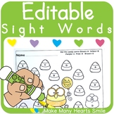 Editable Sight Words: Candy Corn