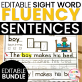 Editable Sight Word Fluency Binders