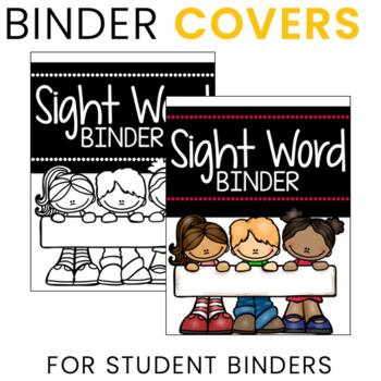 Editable Sight Word Fluency Binders