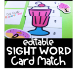 FREE Editable Sight Words Milkshake Card Game