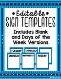 Editable Sign Templates