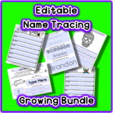 Editable Sign-in Individual Name Tracing Slow Growing Bund