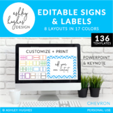 Editable Chevron Signs & Labels {A Hughes Design}