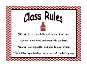 Editable Signs: Rules Schedule Mystery Walker Workstations Library Pass