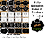 Editable Signs and Posters - Animal Hide Safari Print