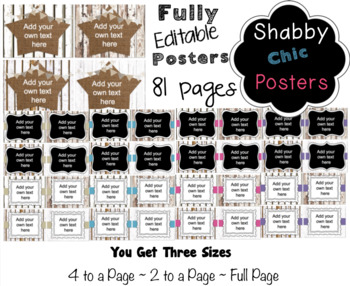 Editable Signs and Posters - Shabby Chic Fence