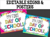 Editable Signs Posters : White Board Theme, Back to School