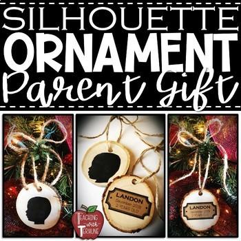 *FREEBIE* Editable Silhouette Ornament Name Plaques