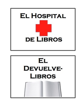 Editable Simple Classroom Library Book Tub or Bin Labels in Spanish and English