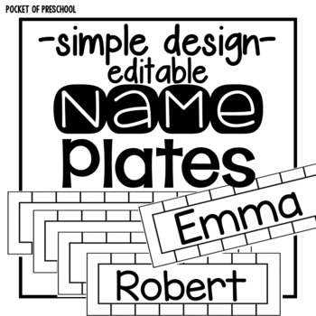 Editable Simple Design Name Plates