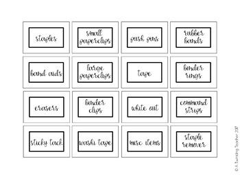 Editable Simple Teacher Toolbox labels