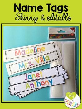 Editable Skinny Name Tags