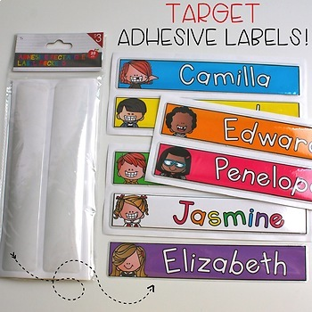 Name Tags 400+ Kid Choices {Brights Kidlettes Edition}
