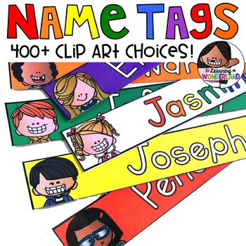 Editable Name Tags - Primary Colors 400+ Labels { Kidlettes Edition}