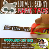 Editable Skinny Name Tags {Woodland Critters Edition}