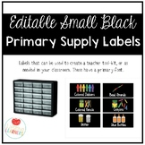 Editable Small Black Classroom Supply/ Teacher Toolkit Lab