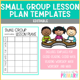 Editable Small Group Lesson Plan Template