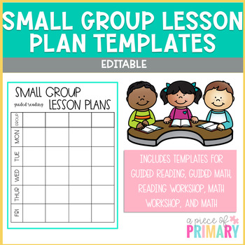 Small Group Lesson Plan Template Teaching Resources Teachers Pay