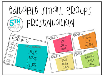 Editable Small Groups Presentation