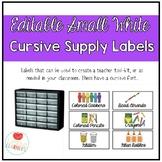 Editable Small White Classroom Supply/Teacher Toolkit Labe