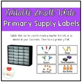 Editable Small White Classroom Supply/Teacher Toolkit Labe