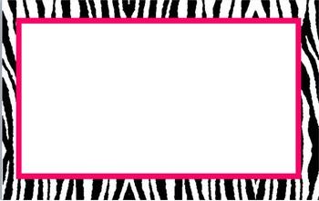 Editable Small Zebra Labels