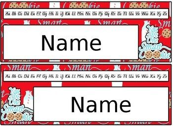 Editable Smart Cookie Desk Name Plate Set -D'Nealian font