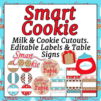Editable!! Smart Cookie Themed Cut outs, Labels, Table signs, and Hall Passes