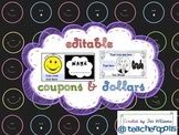 Editable Smile Coupons and Reward Dollars